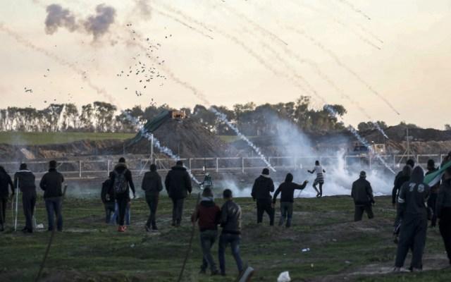 Protestas contra bloqueo de Israel a Gaza dejan 14 heridos - Foto de AFP