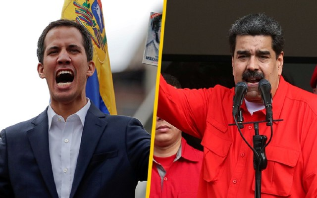 España, Francia y Alemania dan ultimátum a Maduro antes de reconocer a Guaidó - Juan Guaidó y Nicolás Maduro. Foto de Internet