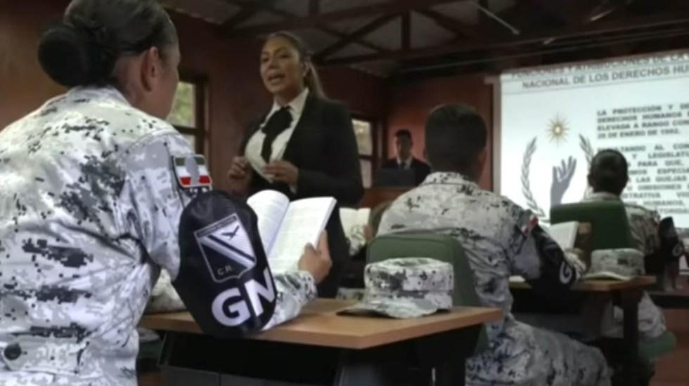 Listo el dictamen sobre Guardia Nacional con mando civil - La Guardia Nacional será capacitada en Derechos Humanos. Captura de pantalla
