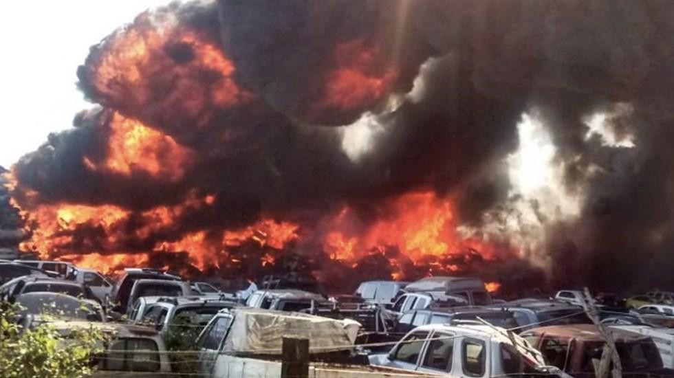 #Video Incendio consume corralón en Altamira, Tamaulipas - Foto de Minuto Uno Tamaulipas