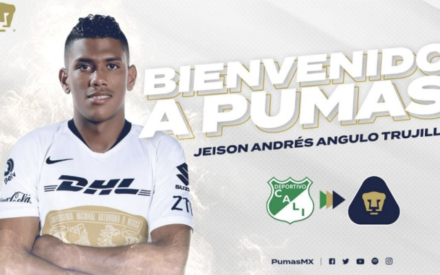 Pumas hace oficial la llegada de Jeison Angulo - Foto de @PumasMX