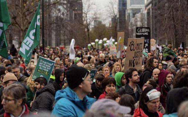 Marchan 150 mil personas en favor del clima en Bélgica y Francia - Marcha Europea por el Clima. Foto de @europeangreens