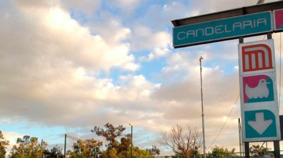 Rescatan a presunto asaltante que cayó a vías del Metro Candelaria - Foto de internet