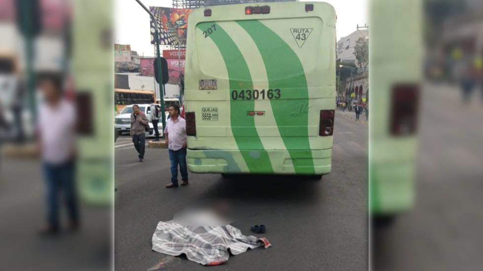 Muere atropellada mujer de la tercera edad por camión en Álvaro Obregón - Foto de @REPORTINQUIETO