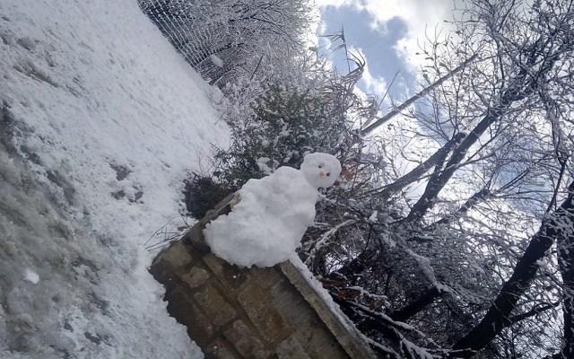 Tormenta invernal cubre de nieve Argelia - Muñeco de nieve en Argelia. Foto de @BlueDidaa