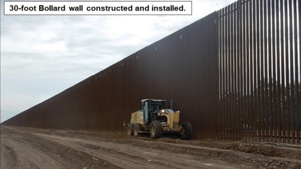 """Trump presume una """"sección renovada"""" del muro fronterizo - trump presume sección renovada del muro fronterizo"""