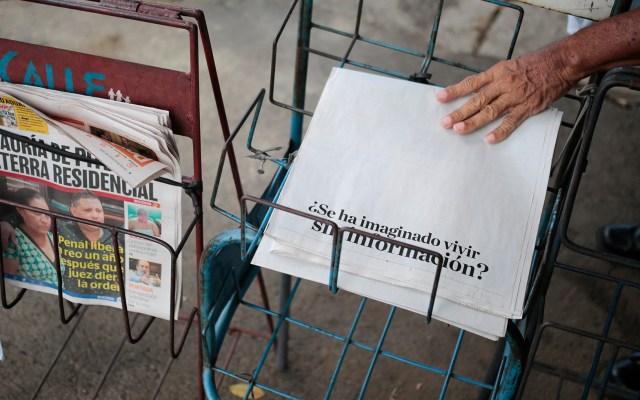 Diario La Prensa de Nicaragua publica portada en blanco en protesta contra gobierno - Diario La Prensa de Nicaragua publica portada en blanco en protesta contra gobierno