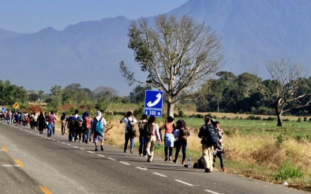 Integrantes de nueva caravana migrante llegan a Tapachula - Foto de Notimex