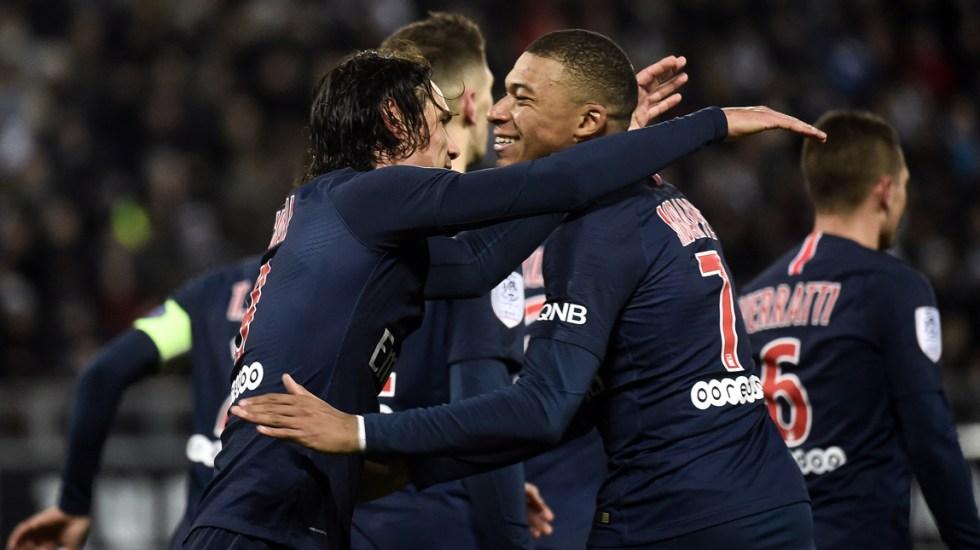 París gana 3-0 a Amiens con goles de Cavani, Mbappé y Marquinhos - Foto de AFP