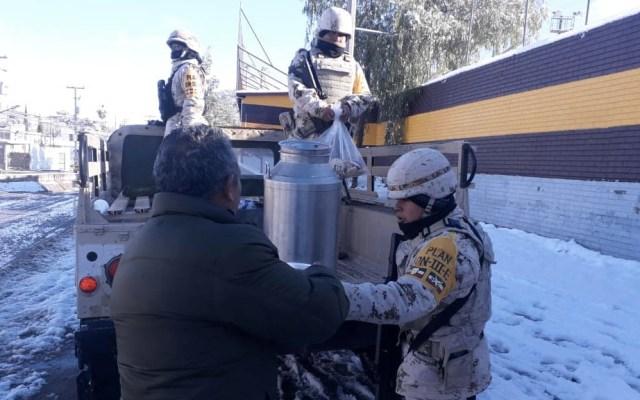 Activan el Plan DN-III en Sonora por tormentas invernales - Foto de Sedena