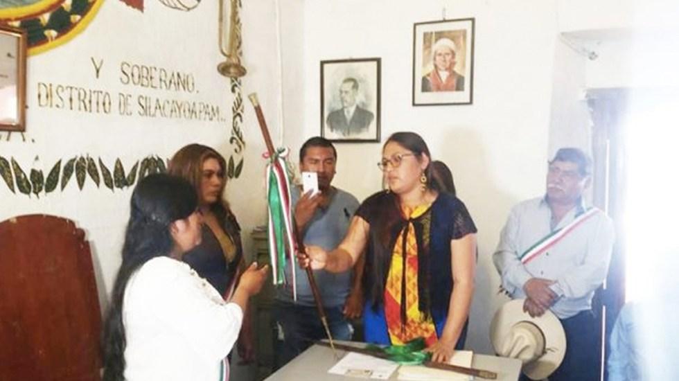 Renuncia presidenta municipal de San Miguel Ahuehuetitlán, Oaxaca - Foto de Rio Oaxaca