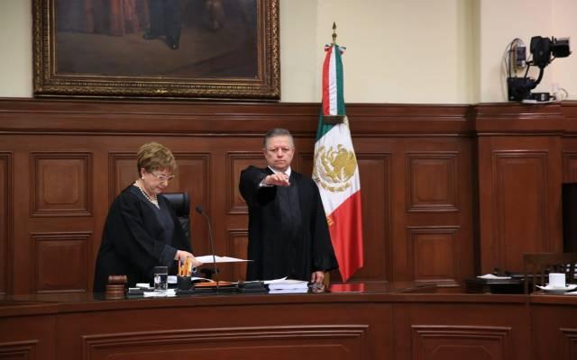 Arturo Zaldívar Lelo de Larrea es electo presidente de la SCJN - Arturo Zaldívar Lelo de Larrea rindió protesta como presidente de la SCJN y del CJF. Foto de Notimex.
