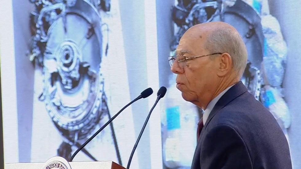 """Caída de helicóptero en Puebla """"no fue normal"""": SCT - Conferencia sobre avances de investigación del accidente aéreo en Puebla. Captura de pantalla"""