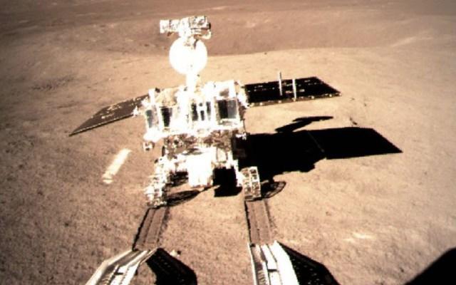 La primera fotografía de la sonda 'Chang'e-4'en la Luna - Foto de @XHNews
