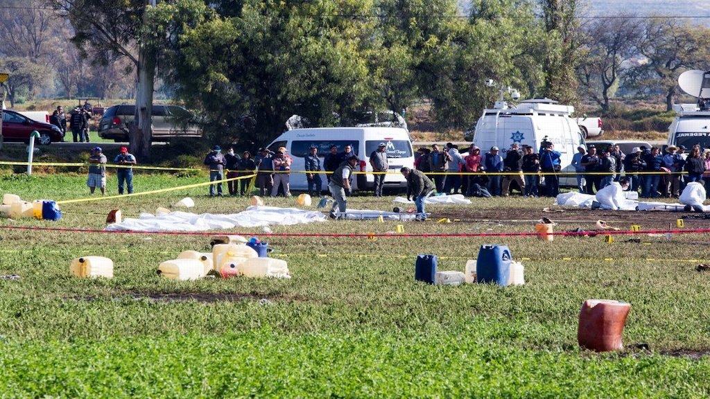 Muere una persona más por explosión en Tlahuelilpan - Tlahuelilpan. Foto de internet.