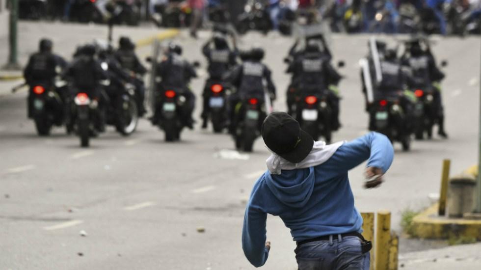EE.UU. condena uso de fuerza militar en Venezuela - Protestas en Venezuela. Foto de AFP