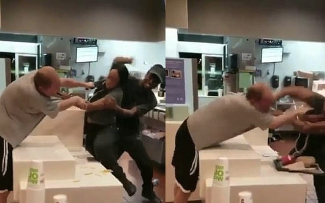 #Video Sujeto agrede a empleada de McDonald's en Florida - Captura de Pantalla