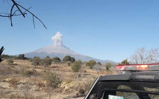 Autoridades piden no acercarse al volcán Popocatépetl - Foto de Protección Civil Puebla