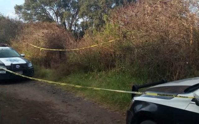 Hallan cadáveres decapitados en ejido de Michoacán - Zona donde hallaron los cadáveres. Foto de Twitter