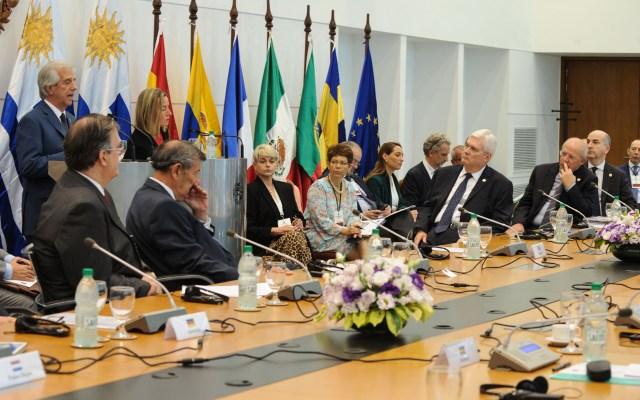 México rechaza firmar declaratoria para realizar elecciones 'creíbles' en Venezuela - Reunión del Mecanismo de Montevideo. Foto de AFP.