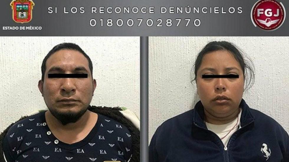 Capturan a pareja que trasladaba en tambo cuerpo de niña - Foto de Fiscalía Edomex