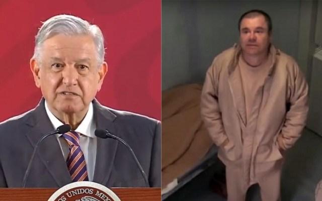 Que sea una lección el veredicto contra el Chapo: AMLO - AMLO y Joaquín 'el Chapo' Guzmán. Foto de LDD