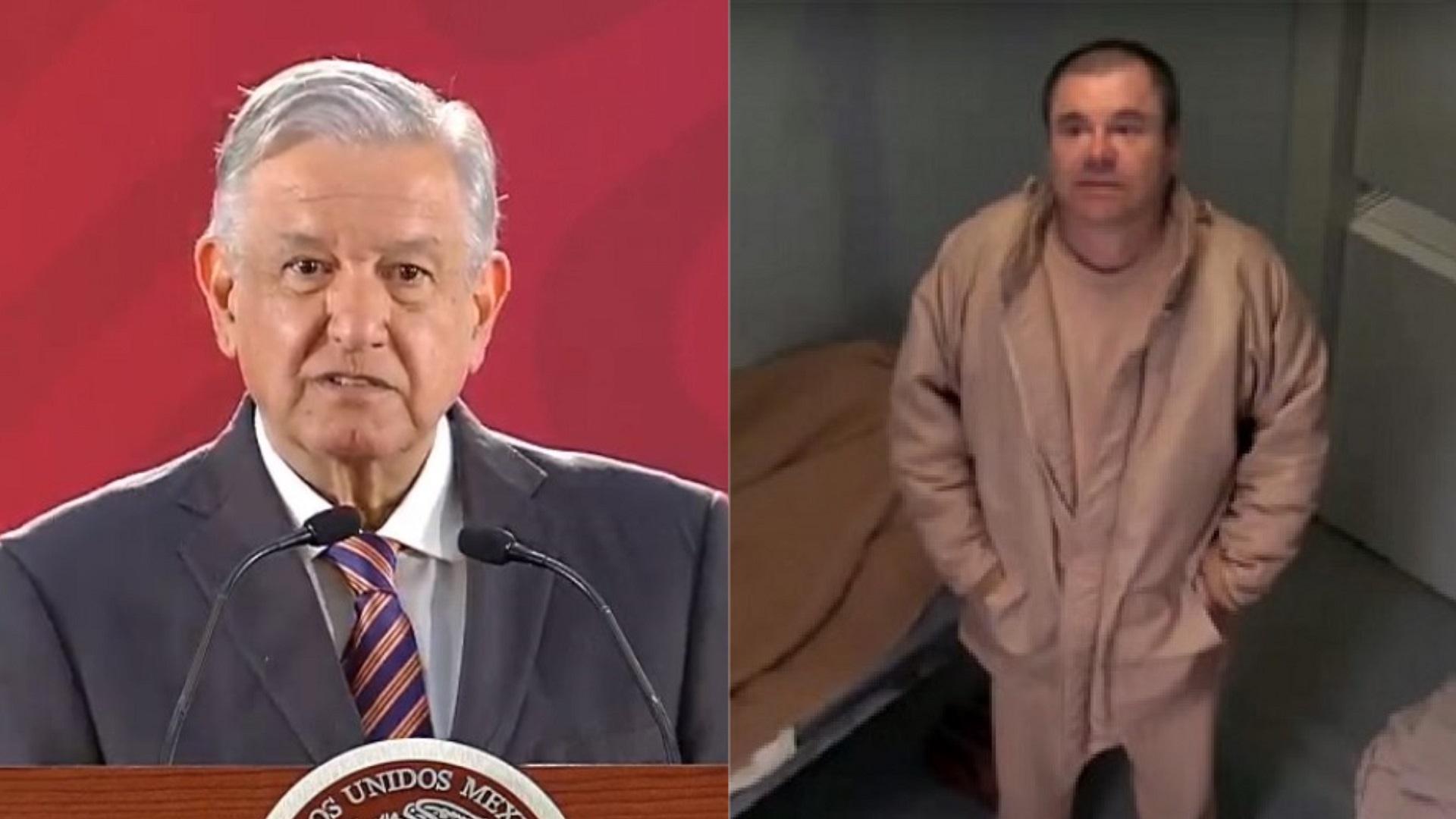 AMLO y Joaquín 'el Chapo' Guzmán. Foto de LDD