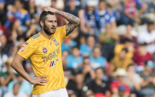 Gignac solo puede jugar una vez a la semana debido a una lesión - Foto de Mexsport