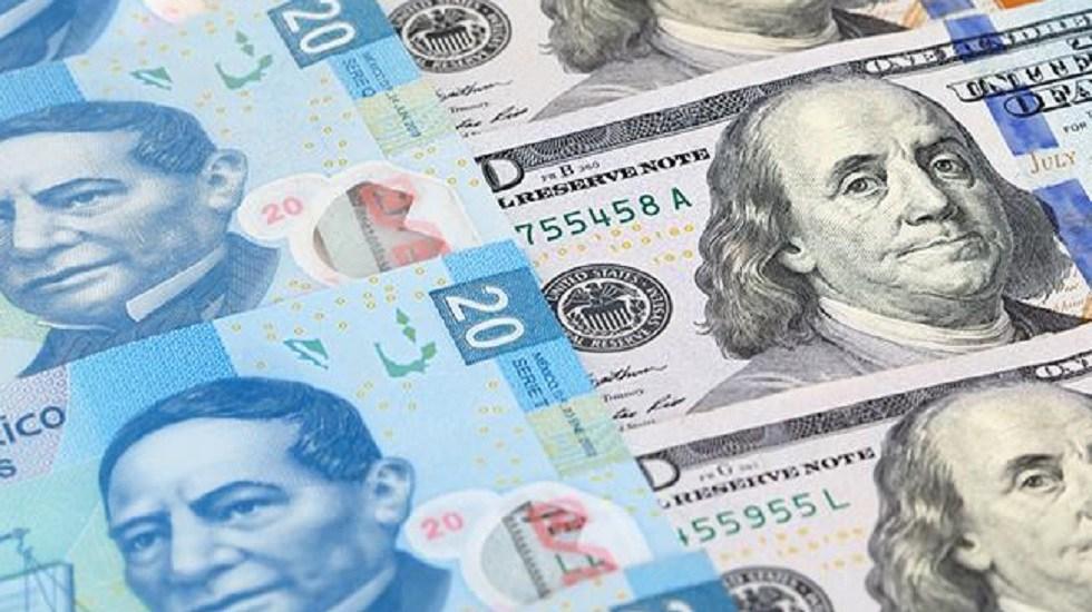 Dólar se vende hasta en 19.67 pesos en bancos - Peso mexicano frente al dólar. Foto de Internet