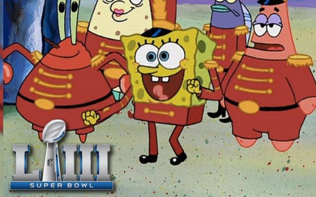 ¡Bob Esponja en el Super Bowl! - Foto de Internet