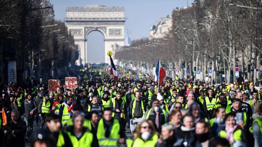 Chalecos amarillos se manifiestan a tres meses del movimiento - Foto de Eric FEFERBERG / AFP