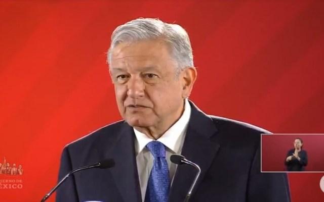 Gabinete cumple con declaración patrimonial: AMLO - Conferencia de AMLO 12 de febrero. Captura de pantalla