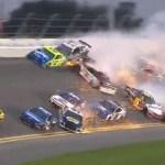 #Video Espectacular carambola en la Daytona 500 de NASCAR - Captura de pantalla