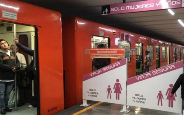 Detienen en el Metro a hombre por viajar en vagones exclusivos - detenido vagón mujeres