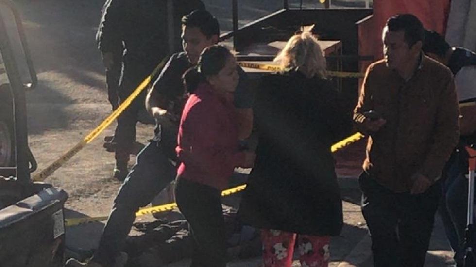 Escena del crimen sobre Avenida Palomas, en Ecatepec. Foto Especial