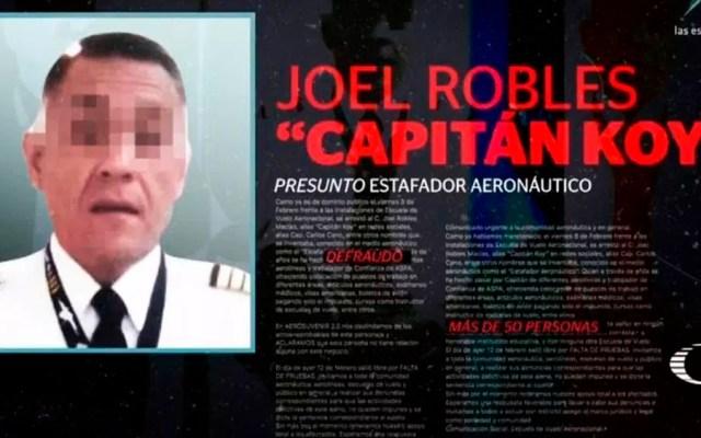 Detienen a estafador que se hacía pasar por piloto de Aeroméxico - Foto de Noticieros Televisa