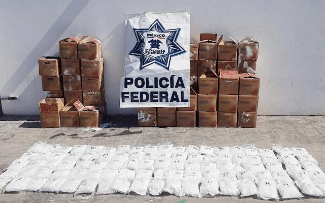 Decomisan casi 70 kilos de metanfetamina en paquetería de Hermosillo - Foto de Twitter