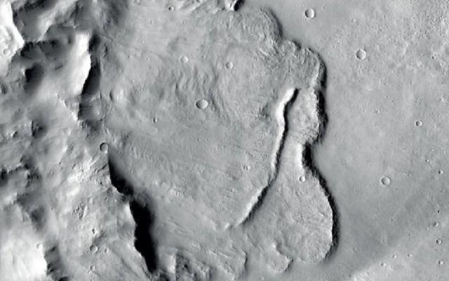 Hallan evidencia geológica de lagos subterráneos en Marte - Cuenca que albergó agua en Marte. Foto de ESA