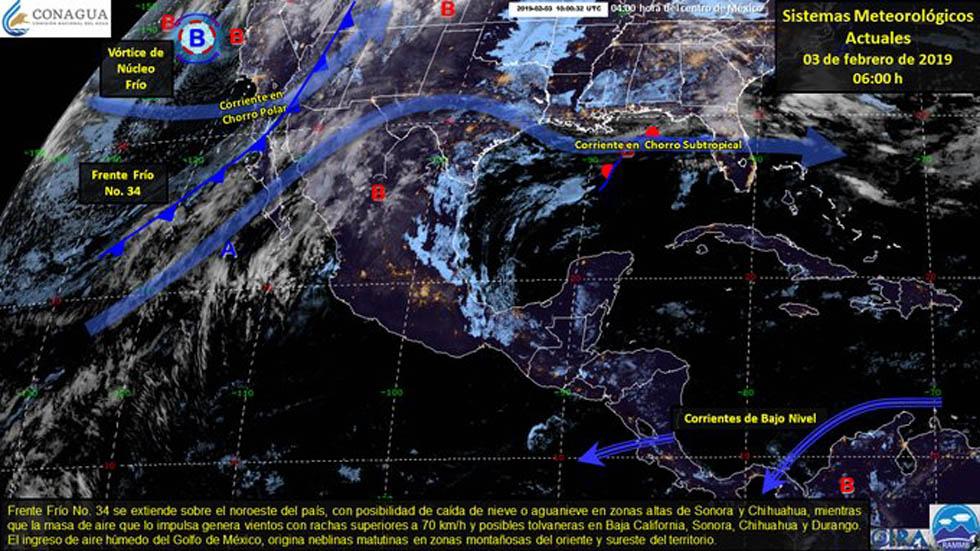 Fenómenos meteorológicos en el país. Foto de @conagua_clima