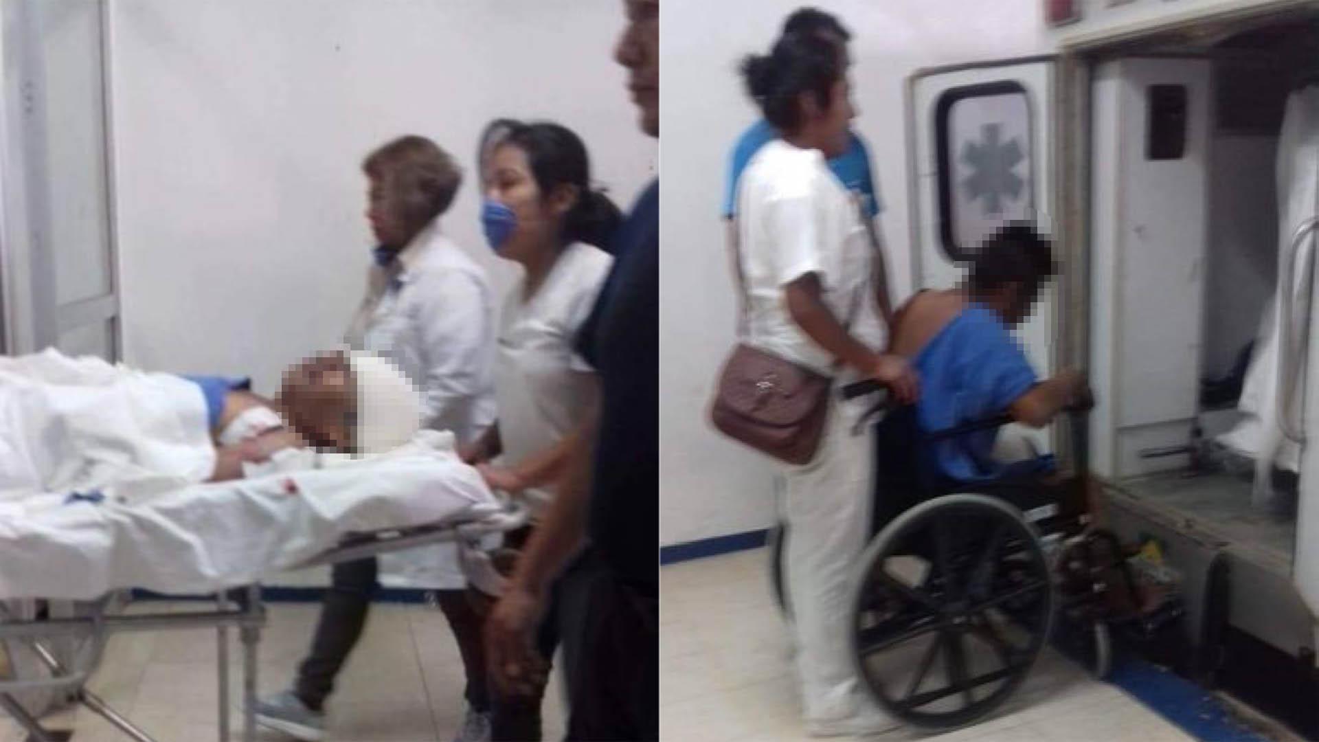 Heridos en ataque armado. Foto de Twitter