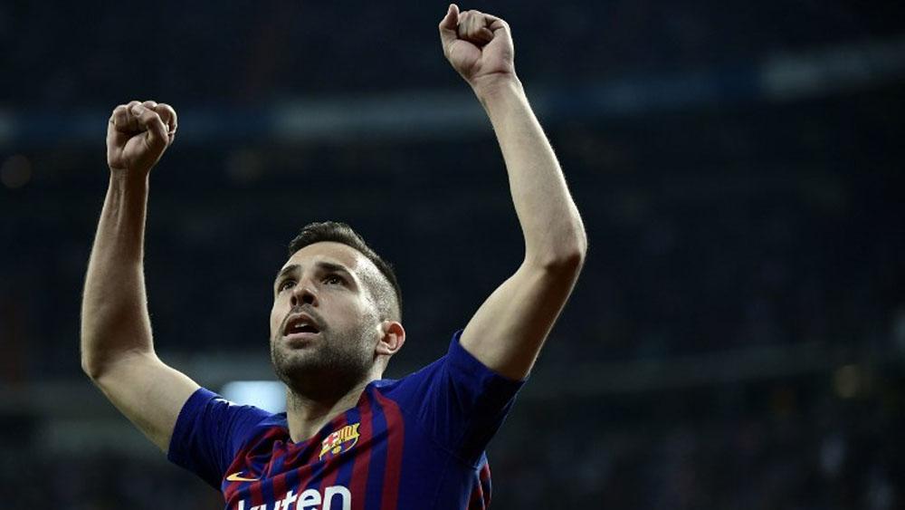 Jordi Alba renueva contrato con el Barcelona hasta 2024 - Foto de AFP