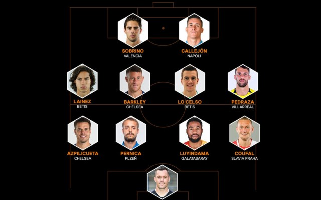 Lainez en el equipo de la semana de la Europa League - Imagen de @EuropaLeague