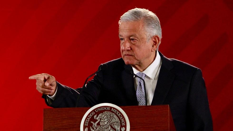 AMLO exhorta a senadores del PAN y PRI a aprobar Guardia Nacional - López Obrador en conferencia matutina. Foto de Notimex