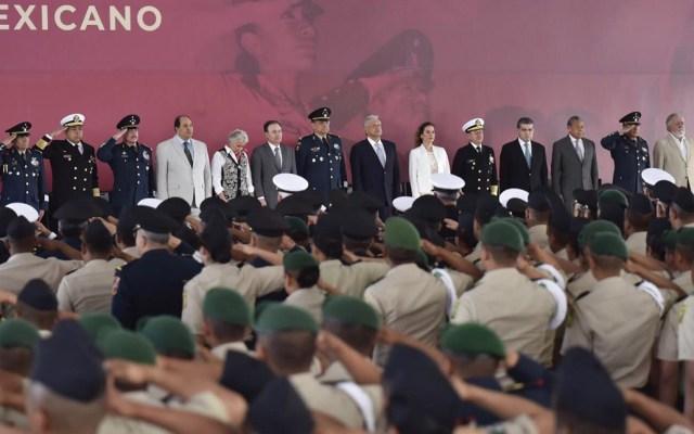 El pueblo los necesita para enfrentar grave problema de inseguridad: AMLO a militares - Foto de Notimex