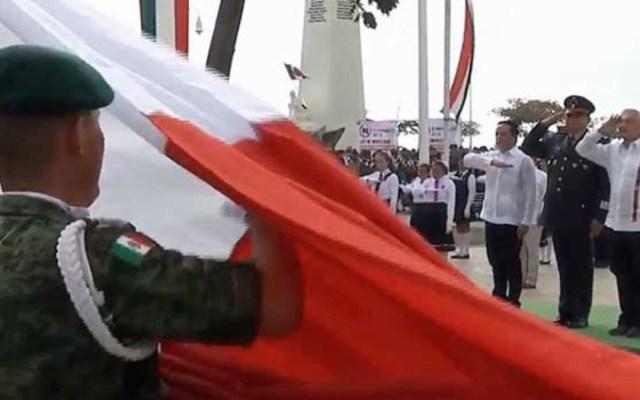 López Obrador encabeza ceremonia del Día de la Bandera en Chetumal - lopez obrador encabeza en quintana roo ceremonia por el día de la bandera