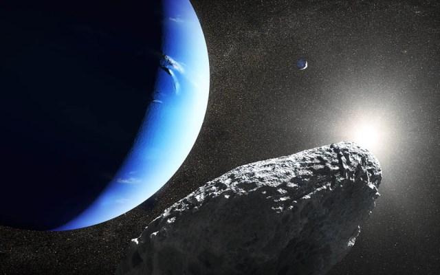 Certifican luna número 14 de Neptuno - Concepto artístico de Hipocampo, nueva luna de Neptuno. Foto de NASA