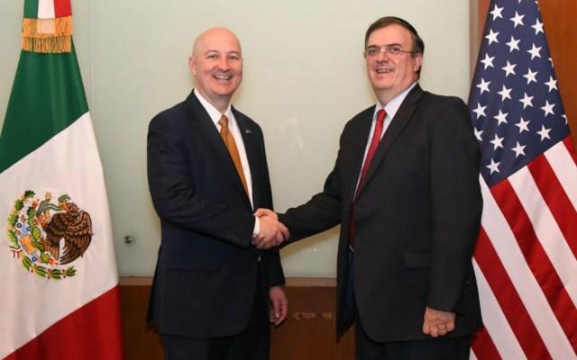 Marcelo Ebrard se reúne con gobernador de Nebraska - Foto de SRE