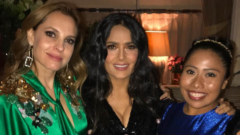 Las mexicanas nominadas a los Oscar - Marina de Tavira, Salma Hayek y Yalitza Aparicio. Foto de @salmahayek