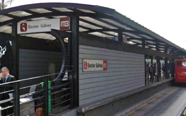 Cambian entradas y salidas de Metrobús Dr. Gálvez - Metrobús Dr. Gálvez. Foto de Google Maps