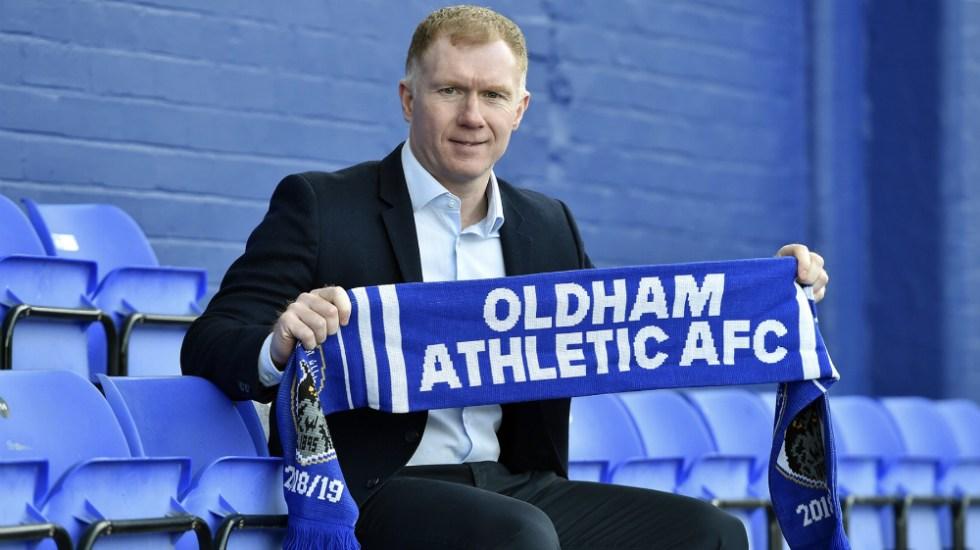 Scholes dirigirá al Oldham Athletic de la segunda división inglesa - Foto de @OfficialOAFC